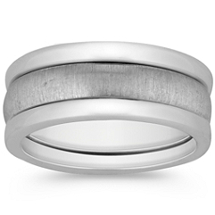 Sterling Silver Three-Ring Set