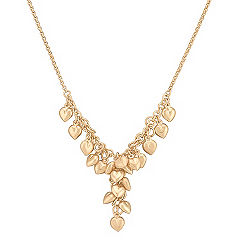 Sterling Silver and 14k Yellow Gold Plated Heart Y-Shaped Necklace (18 in.)