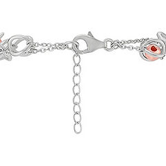 Sterling Silver and Rose Bead Bracelet (7)