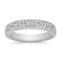 Diamond Wedding Band with Pavé Setting
