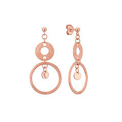 Rose Sterling Silver Dangle Earrings