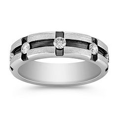 Round Diamond Ring with Channel Setting