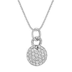 Round Diamond Circle Cluster Pendant (18 in.)