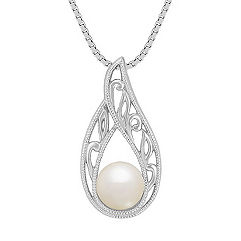 6mm Cultured Freshwater Pearl Solitaire Pendant (18 in.)
