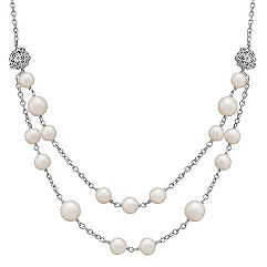 7-9.5mm Cultured Freshwater Pearl and Sterling Silver Necklace (19)