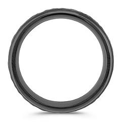 Textured Cobalt Comfort Fit Ring (8mm)