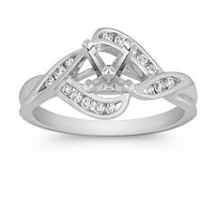 Contemporary Diamond Ring with Channel Setting
