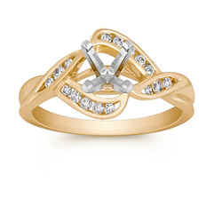 Modern Round Diamond Ring with Channel Setting