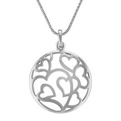 Circle of Hearts Pendant in Sterling Silver (24 in.)