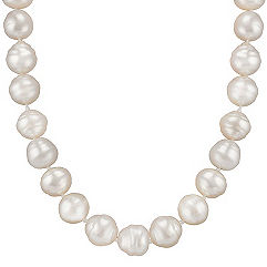 10mm Cultured South Sea Pearl Strand in Sterling Silver (23 in.)