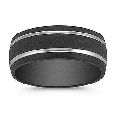 Textured Titanium Comfort Fit Ring (8mm)