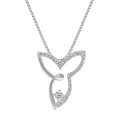 Contemporary Diamond Pendant (18 in.)