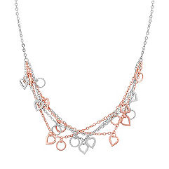 Sterling Silver Heart Necklace (18 in.)