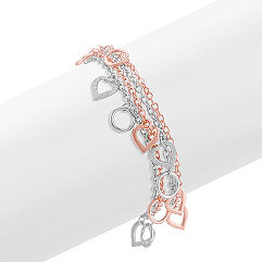 Sterling Silver Heart Bracelet (7 in.)
