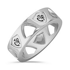 Sterling Silver CTR Ring for Him