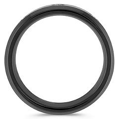Diamond and Black Cobalt Ring (8mm)