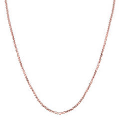 Rose Sterling Silver Necklace (18 in.)