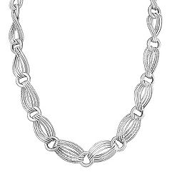 Sterling Silver Link Necklace (24 in.)