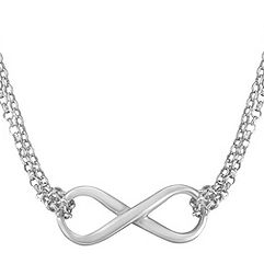 Sterling Silver Infinity Necklace (18 in.)