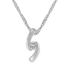 Sterling Silver and Diamond Pendant (18)