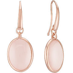 Sterling Silver and Pink Quartz Earrings