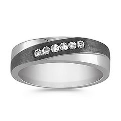 Diamond Ring with Black Rhodium