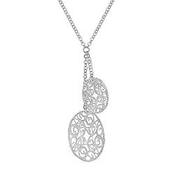 Sterling Silver Double Oval Necklace (18 in.)