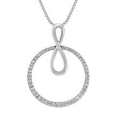 Diamond Circle Pendant (18 in.)