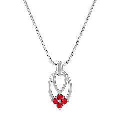 Ruby Cluster Pendant (18 in.)