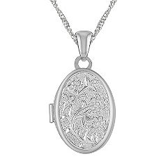 Oval Locket in Sterling Silver (18 in.)