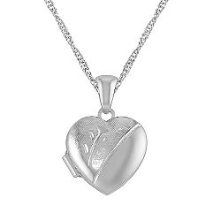 Heart Locket in Sterling SIlver (18 in.)