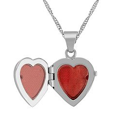 Heart Locket in 14k White Gold (18)