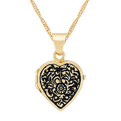 Heart Locket in 14k Yellow Gold (18)