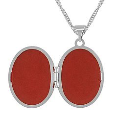 Oval Locket in 14k White Gold (18)