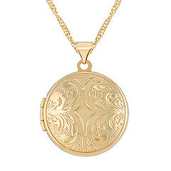 14k Yellow Gold Round Locket (18 in.)