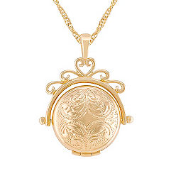 14k Yellow Gold Spinning Locket (18 in.)