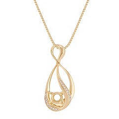 Swirl Round Diamond Pendant (18 in.)
