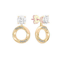 Round Diamond Circle Earring Danglers