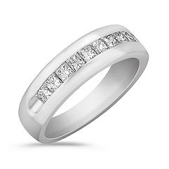 Princess Cut Diamond Ring With Channel Setting