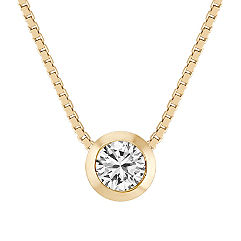 Solitaire Diamond Pendant (18 in.)