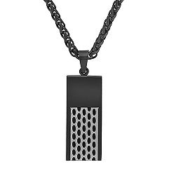 Stainless Steel Necklace with Black Ionic Plating (24 in.)