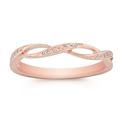 Vintage Diamond Ring in 14k Rose Gold