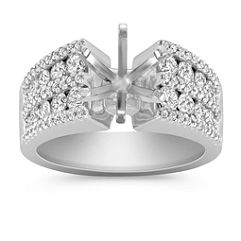 Round Diamond Engagement Ring with Pavé and Channel Setting