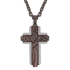 Stainless Steel Cross Necklace (30 in.)