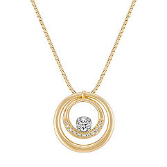 Diamond Double Circle Pendant (18 in.)