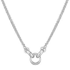 Modern Sterling Silver Necklace (20 in.)