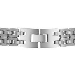 Polished Engravable Stainless Steel Bracelet (8.5)