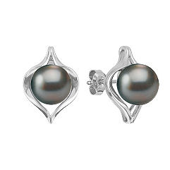 9mm Cultured Tahitian Pearl Earrings