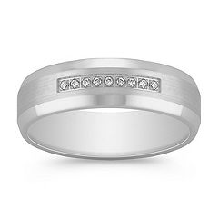 Diamond Ring with Satin Finish (6mm)