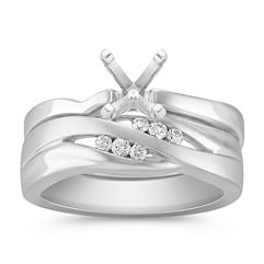 Diamond Wedding Set with Channel Setting for Her